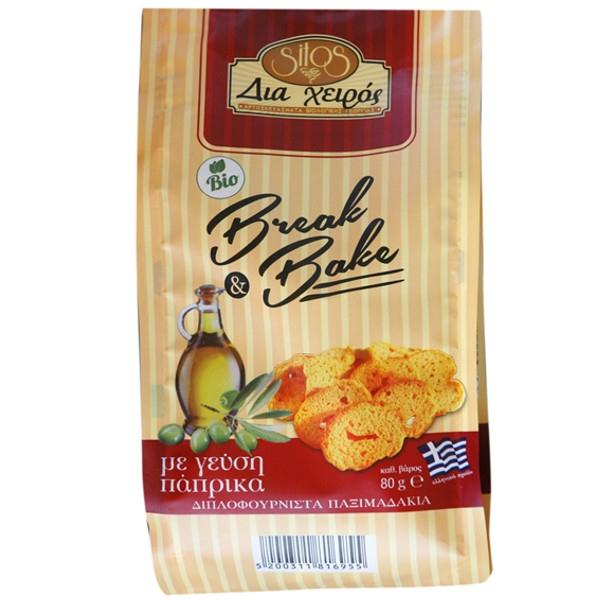Βιολογικά Παξιμαδάκια Bake Break με Γεύση Πάπρικα Bio 80γρ., Ελληνικά, Βιοφρέσκο