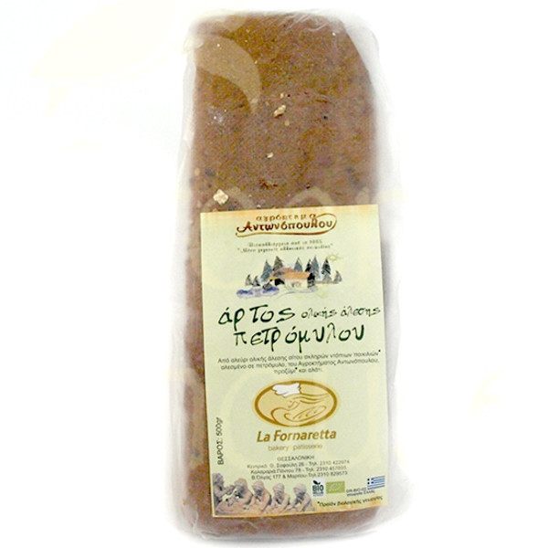 Βιολογικό Ψωμί - Άρτος Πετρόμυλου Ολικής Άλεσης Bio 500γρ., Ελληνικό, Αγρόκτημα Αντωνόπουλου