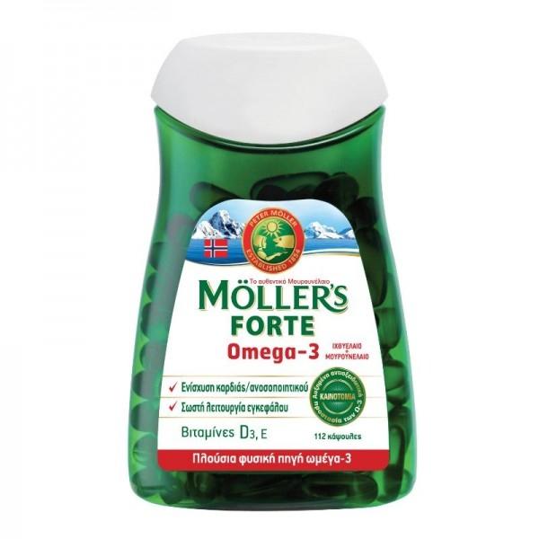Μουρουνέλαιο Forte Omega-3 112κάψ. Moller`s
