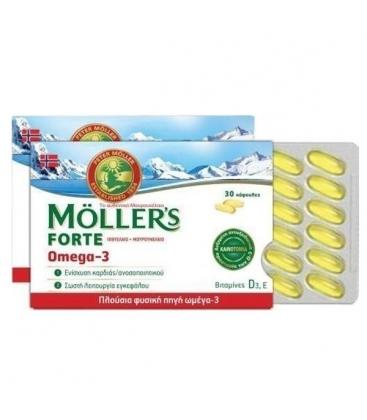 Μουρουνέλαιο Forte Omega-3 30κάψ. Moller`s