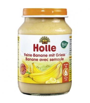 Κρέμα με Μπανάνα και Σιμιγδάλι Σταριού 190gr Βιολογική Holle