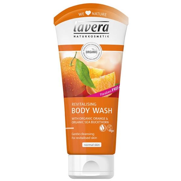 Lavera, Βιολογικό Αφρόλουτρο Revitalising Body Wash με Πορτοκάλι & Ιπποφαές 200ml