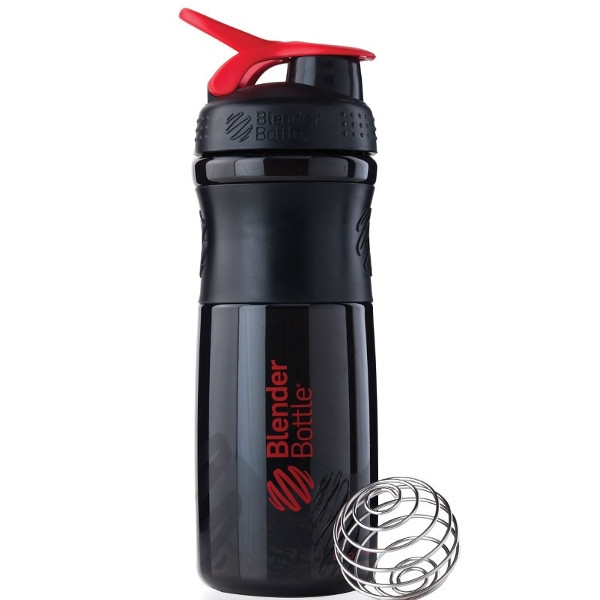 Σέικερ Sportmixer Black/Red 820ml, Blenderbottle