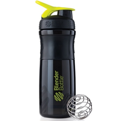Σέικερ Sportmixer Black/Fluo Green 820ml, Blenderbottle