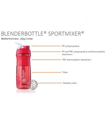 Σέικερ Sportmixer Black/Fluo Green 820ml Blenderbottle