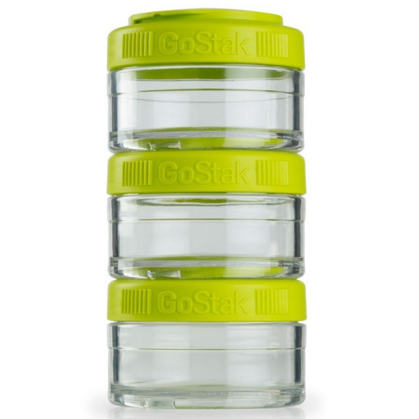 Gostak 3 Δοχεία Χ60cc Fluo Green Blenderbottle