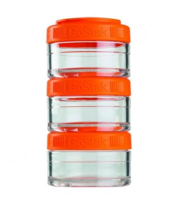Gostak 3 Δοχεία Χ60cc Orange Blenderbottle
