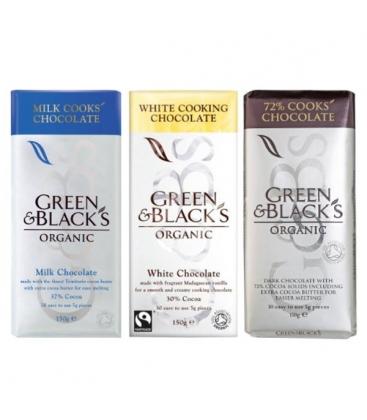 Βιολογική Σοκολάτα Κουβερτούρα 72% Bio 150γρ., Green & Blacks