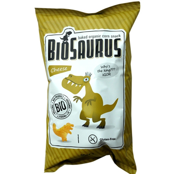 Γαριδάκι Δεινόσαυρος με Τυρί Χωρίς Γλουτένη 50γρ Βιολογικό