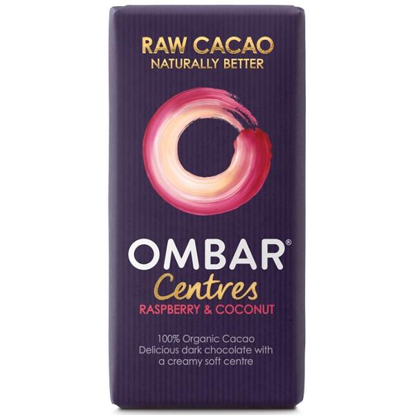 Βιολογική Σοκολάτα Ωμοφαγική με Καρύδα & Βατόμουρο 38γρ., Ombar
