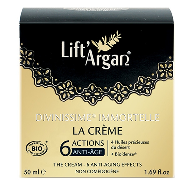 24ωρη Κρέμα Προσώπου Lift'Argan La Crème Divinissime Immortelle 50ml So Bio