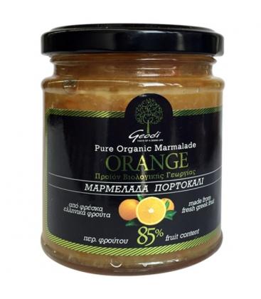 Μαρμελάδα Πορτοκάλι Βιολογική 360γρ Γεωδή