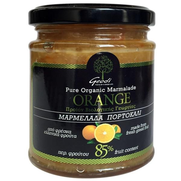 Βιολογική Μαρμελάδα Πορτοκάλι 225γρ. Bio, Ελληνική, Γεωδή