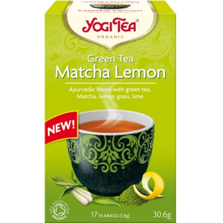 Βιολογικό Τσάι Πράσινο Matcha Lemon 17 φακελάκια 30γρ. Bio, Yogi Tea