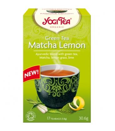Τσάι Πράσινο Matcha Lemon 30gr 17φακ. Βιολογικό Yogi Tea