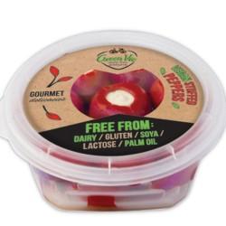 Κόκκινες Πιπεριές με Φυτικό Τυρί 250γρ., Ελληνικές, GreenVie Foods