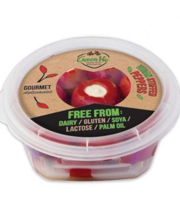 Ελληνικές Κόκκινες Πιπεριές με Φυτικό Τυρί 250γρ. GreenVie