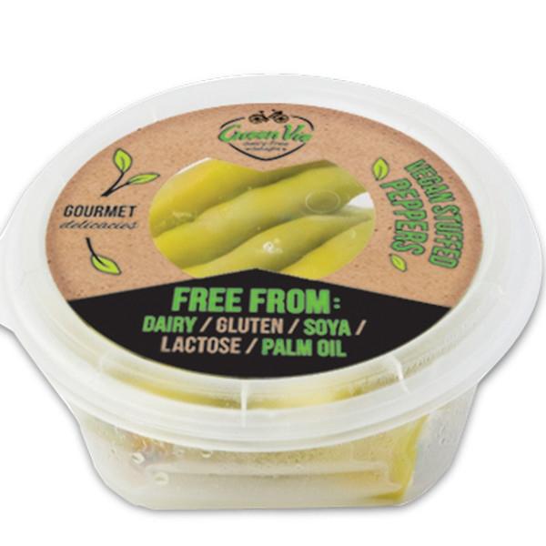 Ελληνικές Πράσινες Πιπεριές με Φυτικό Τυρί 250γρ. GreenVie