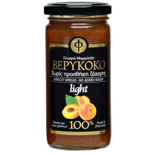 Ελαφριά Μαρμελάδα Βερύκοκο 100% φρούτο Χωρίς Ζάχαρη 270γρ., Ελληνική, Γεωδή