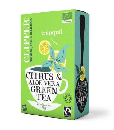 Τσάι Πράσινο με Αλόη Bio (20 φακελάκια), Βιολογικό, Clipper