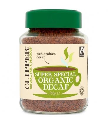 Καφές Στιγμιαίος Decaf (χωρίς καφεΐνη) Bio 100γρ., Βιολογικός, Clipper