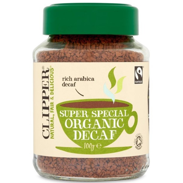 Βιολογικός Καφές Στιγμιαίος Decaf (χωρίς καφεΐνη) Bio 100γρ., Clipper