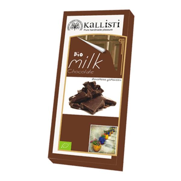 Βιολογική Σοκολάτα Γάλακτος Bio 50γρ., Ελληνική, Kallisti