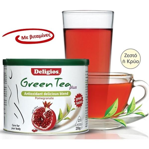 Green Tea Plus με Ρόδι 230γρ., Deligios