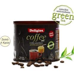 Ρόφημα Kαφέ Coffee Plus με Κατεχίνες 130γρ., Deligios