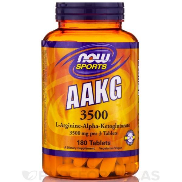 AAKG 3500 180 Tabs Now Foods