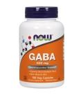 Συμπλήρωμα Αμινοξέως GABA 500mg (+ B-6 2 mg) - 100 Caps Now Foods