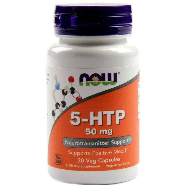 5-HTP 50 mg - 30 Caps Now Foods
