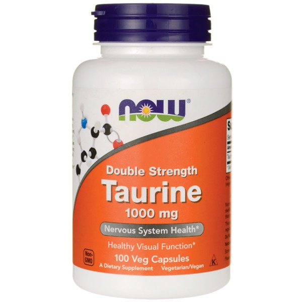 Taurine 1000 mg (Free Form) - 100 Caps Now Foods