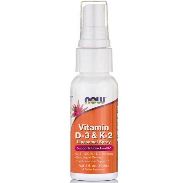 Βιταμίνη D-3 1000IU & Κ2 100mcg Liposomal Now Foods