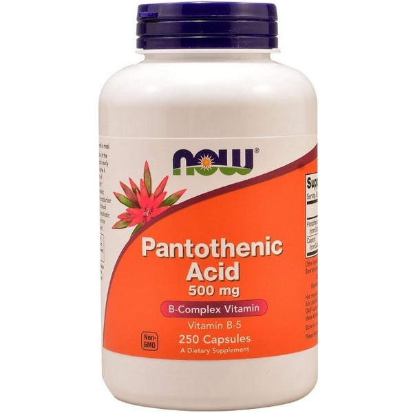 Συμπλήρωμα Pantothenic Acid 500mg - 100 Caps Now Foods