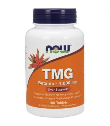 Συμπλήρωμα TMG (Trimethylglycine) 1000mg - 100 Tabs Now Foods