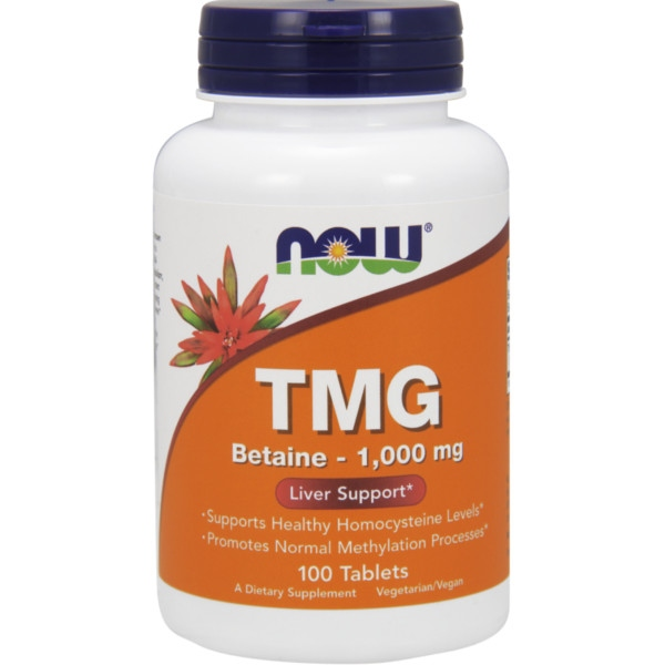 Συμπλήρωμα TMG (Trimethylglycine) 1000mg - 100 Tabs Now Foods