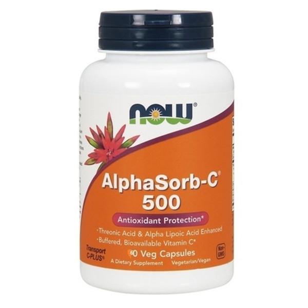 Συμπήρωμα Alphasorb-C™ 500 mg 60 Vcaps® Now Foods