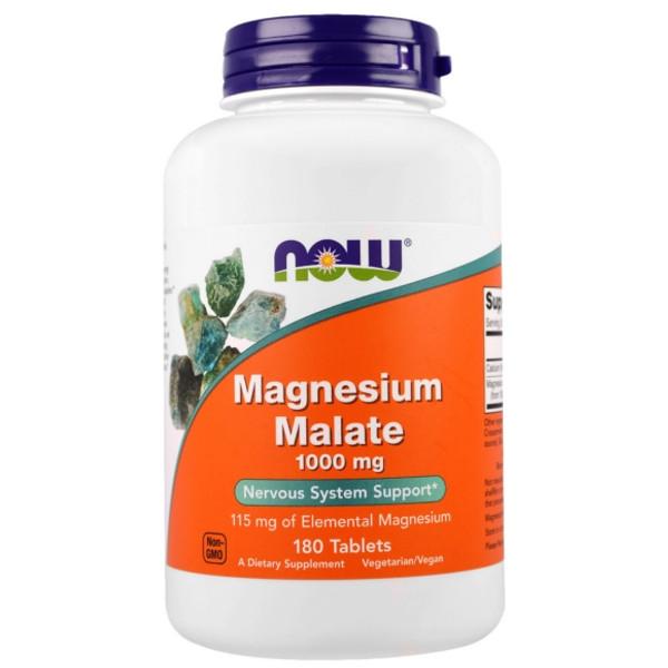 Συμπλήρωμα Μαγνησίου Magnesium Malate 1000mg - 180 Tabs Now Foods