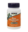Ψευδάργυρος Zinc Picolinate 50mg 60 κάψουλες Now Foods