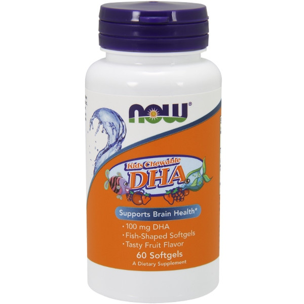 DHA Kid'S Chewable 100 mg - 60 Softgels Now Foods