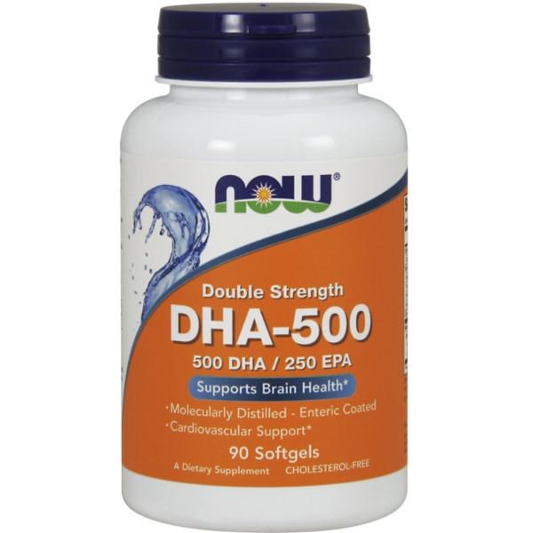 Συμπλήρωμα DHA-500 (500 mg DHA / 250 mg EPA) - 90 Softgels Now Foods