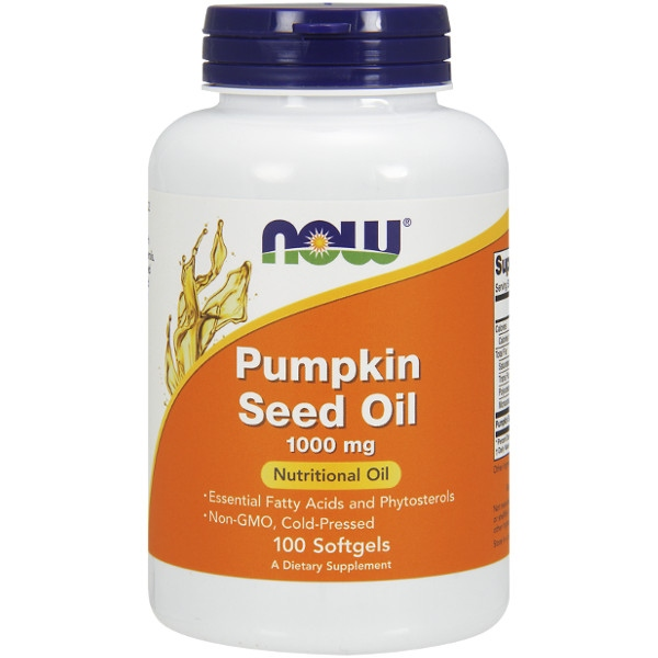 Pumpkin Seed Oil (Έλαιο Κολοκύθας) 1000 mg - 100 Softgels Now Foods