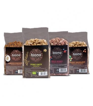Βιολογική Γκρανόλα με Σοκολάτα & Καρύδα 375γρ Bio Biona