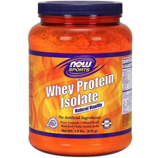 Πρωτεΐνη Whey Isolate με Γεύση Βανίλιας 816γρ Now Foods