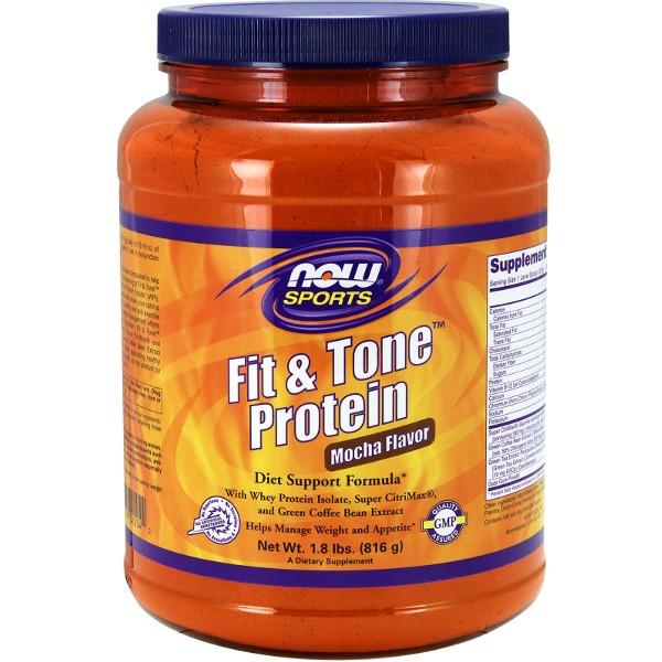 Πρωτεΐνη Fit & Tone™ με Γεύση Μόκα 816γρ Now Foods