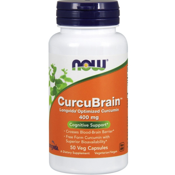 CurcuBrain™ 400 mg 50Veg Κάψ. Now Foods