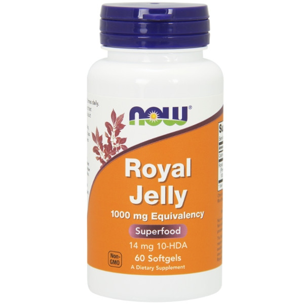 Βασιλικός Πολτός Royal Jelly 1000mg 60 Softgels Now Foods