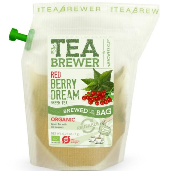 Βιολογικό Πράσινο Τσάι με Κόκκινα Μούρα 9γρ Bio Teabrewer