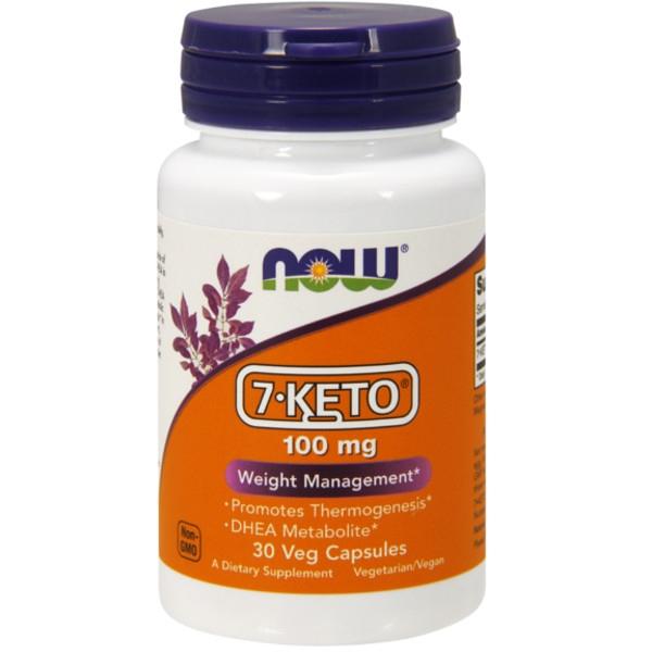 7-KETO® 100 mg 30Veg Κάψουλες Now Foods